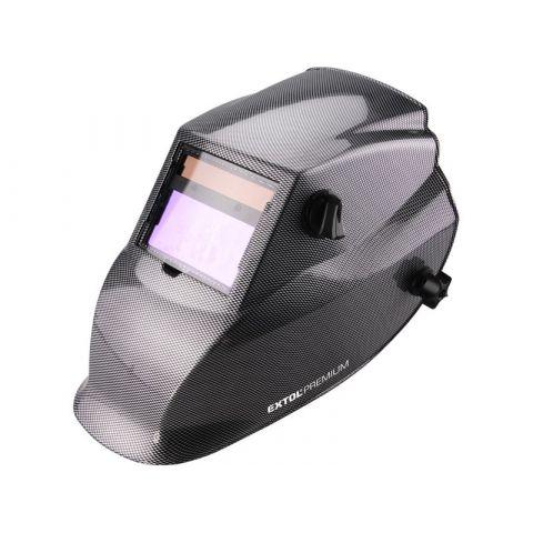 Kukla svářecí samostmívací, karbonová, 100x50mm, 1/25000s, EXTOL PREMIUM