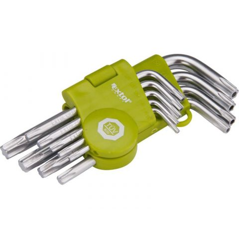 L-klíče TORX krátké, sada 9ks EXTOL CRAFT