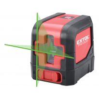 Laser zelený liniový 1H1V křížový samonivelační EXTOL PREMIUM