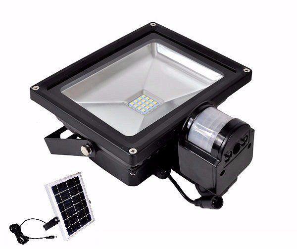 LED reflektor 20W s pohybovým senzorem a solárním panelem BASS Nářadí-Sklad 1 | 1