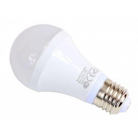 LED žárovka 10W, studená bílá, 800lm, E27, BASS