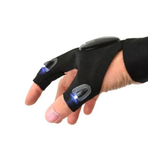 Lehká rukavice s LED osvětlením pro mechaniky GEKO
