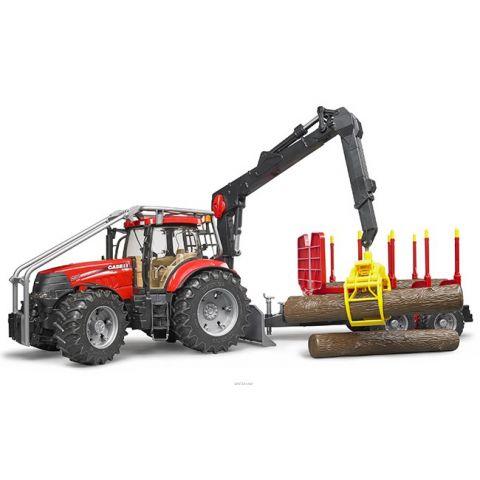 Lesnický traktor Case IH Puma CVX 230 s přívěsem + 4 klády 03098 BRUDER