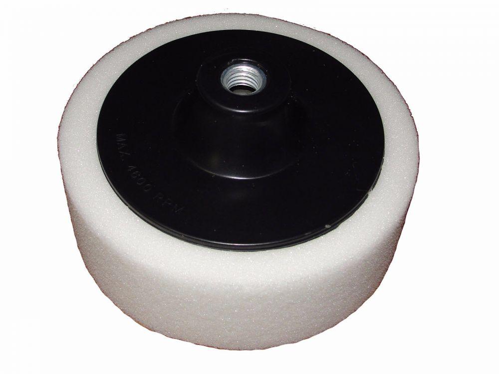 Leštící kotouč molitanový bílý 150mm tloušťka 50mm s unašečem závit M14 MAR-POL