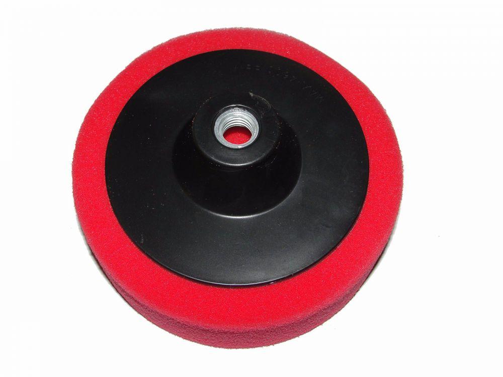 Leštící kotouč molitanový červený 150mm tloušťka 50mm s unašečem závit M14 MAR-POL