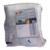 Lisovaný textil, páraná bavlna barevná bílá 10kg
