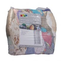 Lisovaný textil, páraná bavlna barevná světlá 10kg