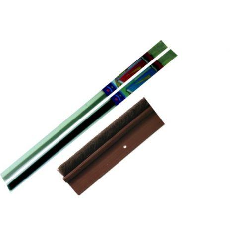 Lišta dveřní PVC-kartáč hnědý 100cm