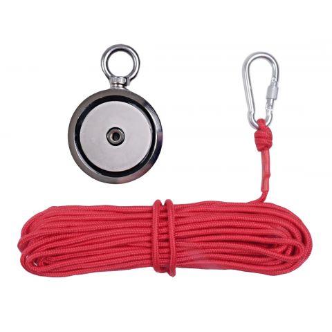 Magnet fishing 140kg oboustranný pro lovce pokladů KD10415 KRAFT&DELE