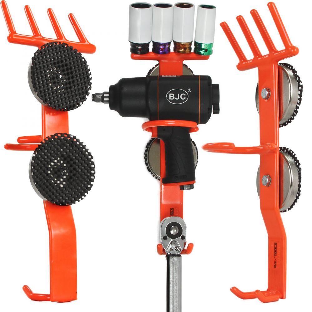 Magnetický držák na rázový utahovák a nástrčné klíče - oranžový BJC