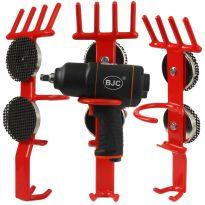 Magnetický držák na rázový utahovák a nástrčné klíče - červený BJC