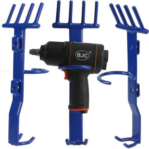 Držák na rázový utahovák a nástrčné klíče - modrý BJC