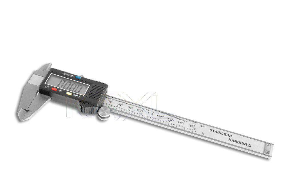 Měřítko posuvné digitální, posuvka, šuplera s hloubkoměrem, 0-150mm MAR-POL