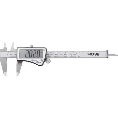 Měřítko posuvné digitální nerez , 0-150mm, IP54 EXTOL PREMIUM
