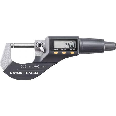 Mikrometr digitální, 0-25mm EXTOL PREMIUM