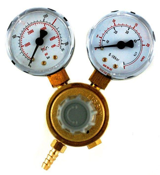 Mini redukční ventil akvaristický ARGON/CO2 W21,8 LAND & WELDER