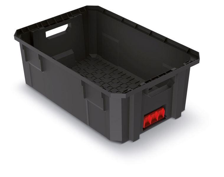 Modulární přepravní box X BLOCK PRO černý 544x362x200 KISTENBERG