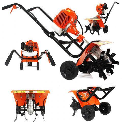 Motorový kultivátor 2,6kW, 62cm3, 2T, 37cm DEMON