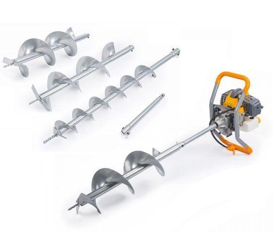 Motorový zemní vrták 6HP/4,5kW se 3 vrtáky PM-SWG-600N-3W POWERMAT