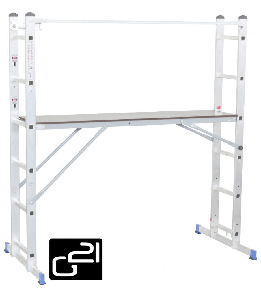 Multifunkční lešení G21 Handrail 1,96 x 1,59 m *HOBY 19.5Kg 6390390