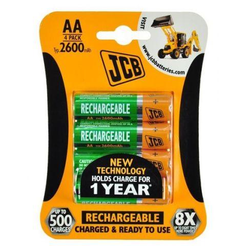 Nabíjecí baterie JCB RTU NiMH AA/R06, 1300mAh