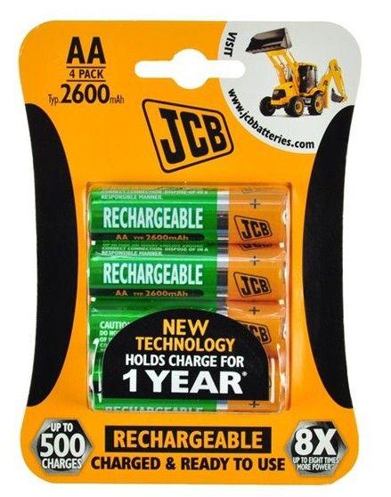 Nabíjecí baterie JCB RTU NiMH AA/R06, 2600mAh *HOBY 0Kg JCB-HR62600RC-4