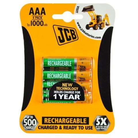 Nabíjecí baterie JCB RTU NiMH AAA/R03, 900mAh