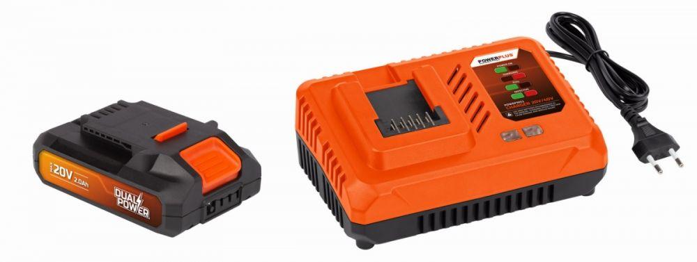 Nabíječka 20V/40V + Baterie 20V LI-ION 2,0Ah