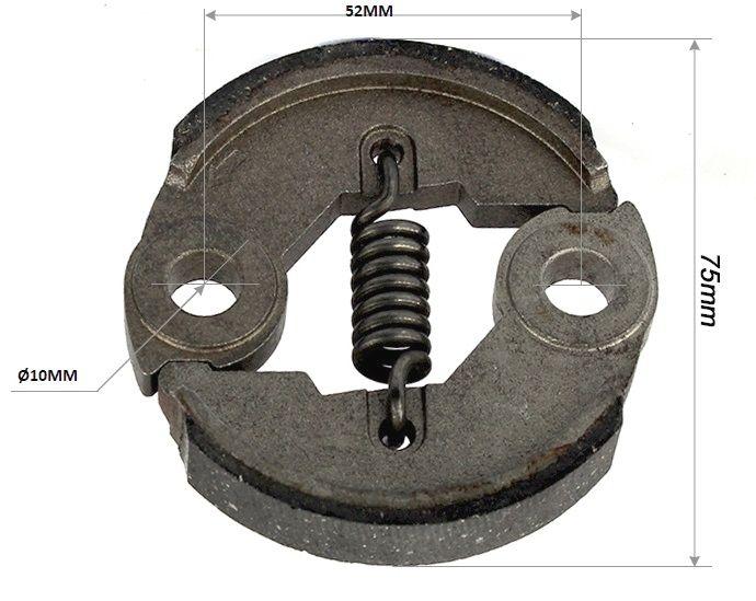 Náhradní odstředivá spojka ke křovinořezu - vnitřní část