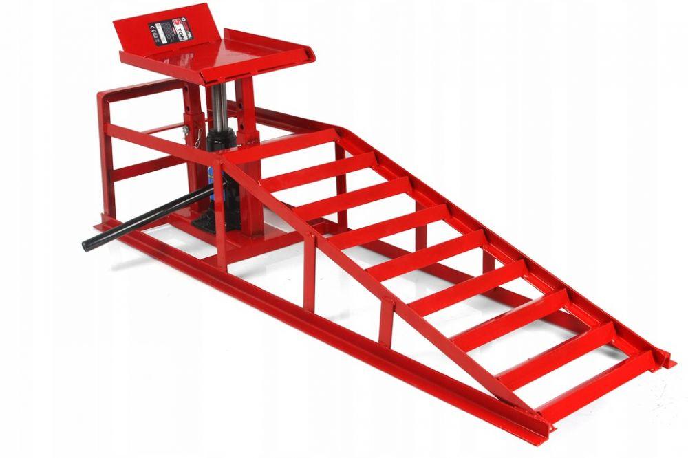 Nájezdová kovová rampa s hydraulickým zvedákem 2T, 1ks MAR-POL