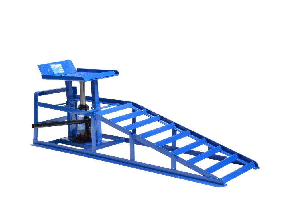 Nájezdová rampa s hydraulickým zvedákem 2T, 1ks GEKO