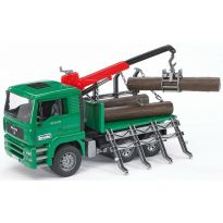 Nákladní auto pro přepravu dřeva MAN TGA + 3 klády 02769 BRUDER