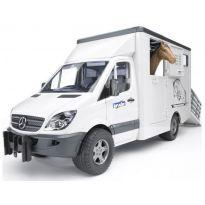 Nákladní auto pro přepravu koní Mercedes Benz Sprinter + kůň 02533 BRUDER