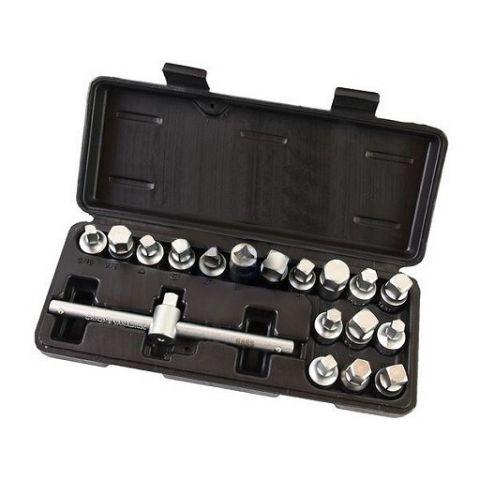 Nástrčné klíče na zátky olejových van, 18ks, BASS