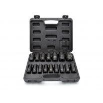 """Nástrčné rázové hlavice 1/2"""", 10-32mm, 16ks v kufru GEKO"""