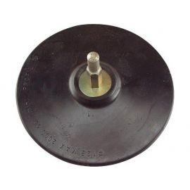 Nosič brusných výseků do vrtačky - suchý zip, O 150mm, stopka 8mm, EXTOL CRAFT