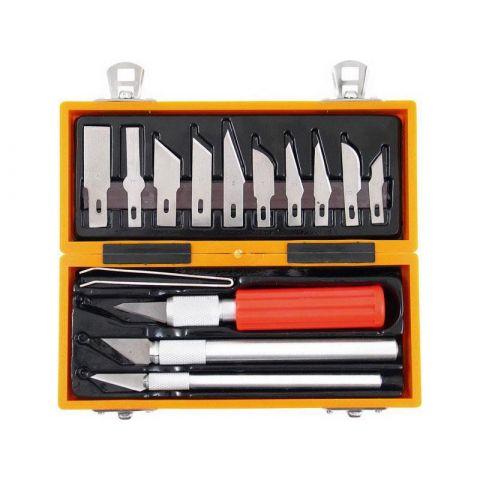 Nože na vyřezávání, sada 14ks, EXTOL CRAFT