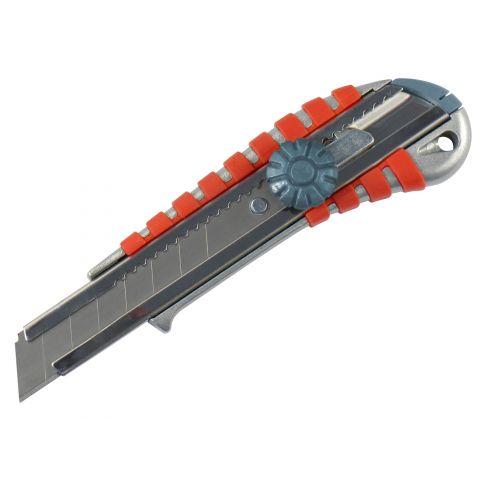 Nůž ulamovací kovový s kovovou výstuhou a kolečkem, 18mm, EXTOL