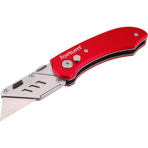 Nůž zavírací s výměnným břitem, 5ks náhradních břitů, EXTOL PREMIUM