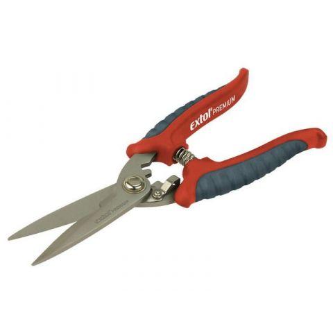 Nůžky víceúčelové nerez, 200mm, INOX, EXTOL PREMIUM