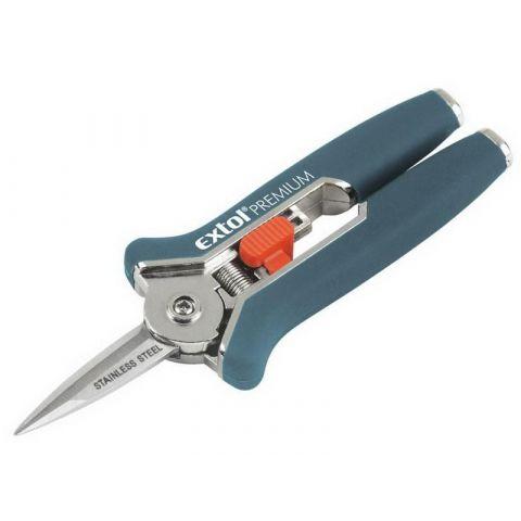 Nůžky zahradnické přímé, mini, 153mm, EXTOL PREMIUM