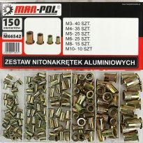 Nýtovací matice, sada 150ks, M3-M10, ocelové MAR-POL