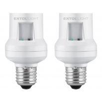 Objímka na žárovku dálkově ovládaná, 2ks, E27, 30m EXTOL LIGHT