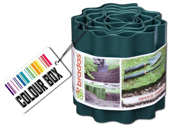 Obruba záhonů zelená, 9m, 10cm COLOUR BOX *HOBY 0Kg BR-OBFG 0910