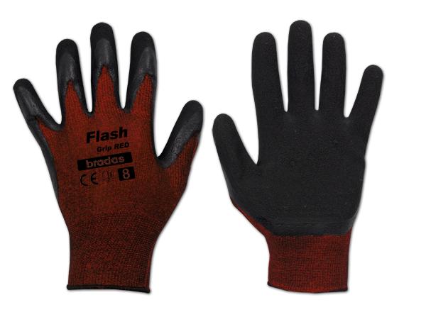 "Ochranné rukavice 11"", latexové FLASH GRIP RED *HOBY 0Kg BR-RWFGRD11"