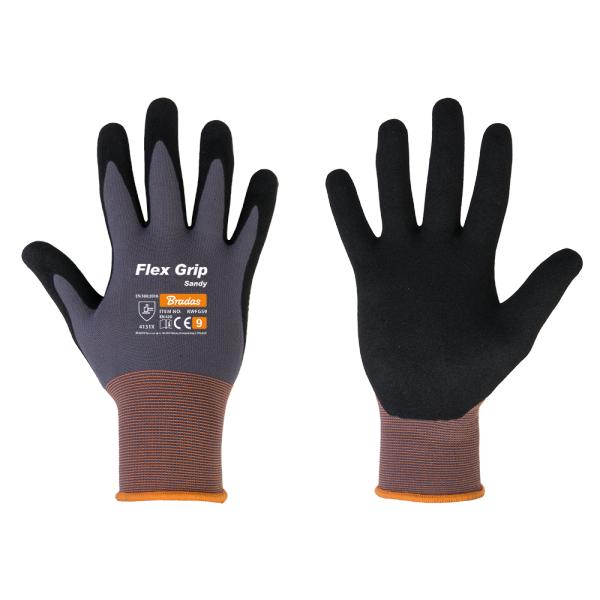 """Ochranné rukavice, nitrilové, 10"""" FLEX GRIP SANDY *HOBY 0Kg BR-RWFGS10"""