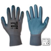 "Ochranné rukavice, nitrilové, 10"" NITROX GREY"