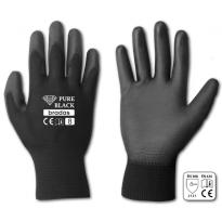 """Ochranné rukavice, polyuretanové, 10"""" PURE BLACK"""