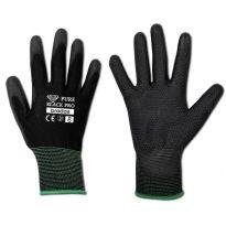 "Ochranné rukavice, polyuretanové, 10"" PURE BLACK PRO"