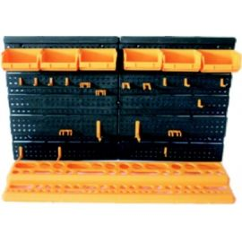 Organizér závěsný s boxy a držáky 1+6+19